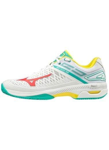 Mizuno Wave Exceed Tour 4 CC Unisex Tenis Ayakkabısı Beyaz / Yeşil Beyaz
